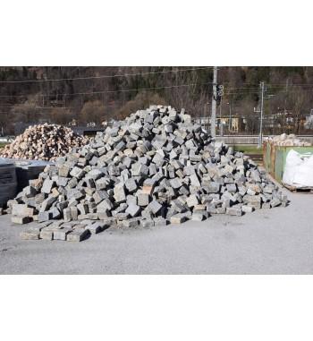 Pflastersteine Granit gebraucht 18x18-27x9 cm grau gemischt