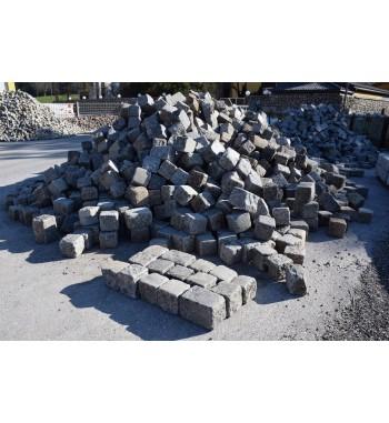 Pflastersteine Granit gebraucht 18x18-27x18 cm grau-gemischt