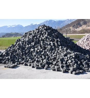 Pflastersteine Andesit 10-12 cm Schwarz