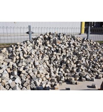 Pflastersteine Granit Herbstlaub 8-10 cm gelb-grau-gemischt