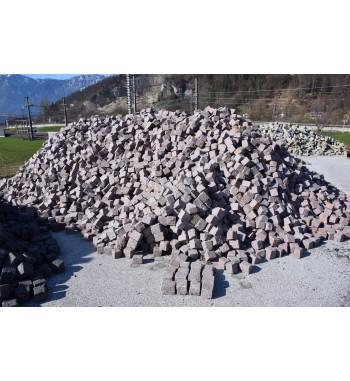 Pflastersteine Granit Manga 8-10 cm hellrot