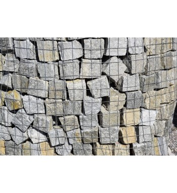 Pflastersteine Luserna Gneis 8-12 cm grün-grau-braun