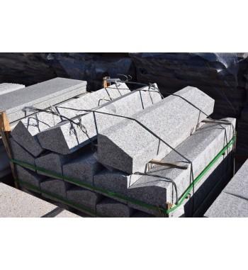 Flachbordsteine Granit gestockt RMA6 grau 15x20x100 cm