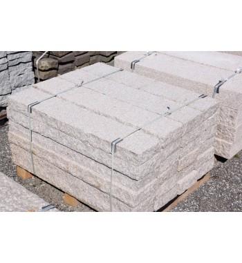 Leistensteine Granit gestockt grau-rosa 10x25x125cm