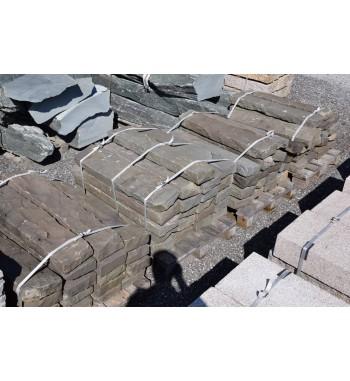 Leistensteine Basalt  dunkelgrau ca 8x20x100 cm