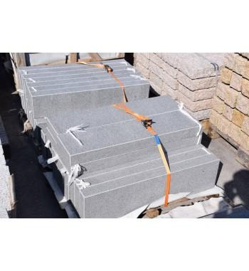 Palisaden Granit geflammt Anthrazit 5 & 8 cm