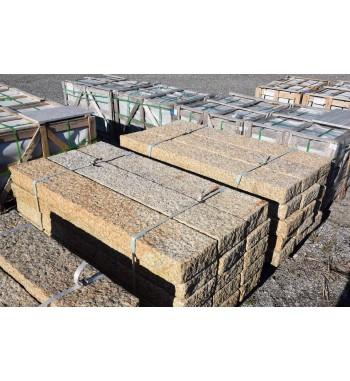 Palisaden Granit gelb gespitzt 10x25 cm