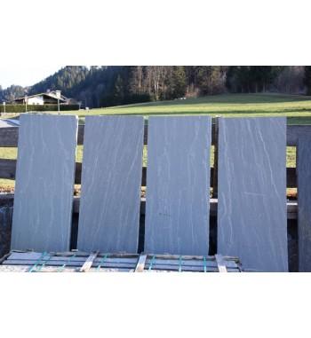 Sichtschutzplatte  Schiefer Kandla Grey spaltrauh 220x70x6-8 cm