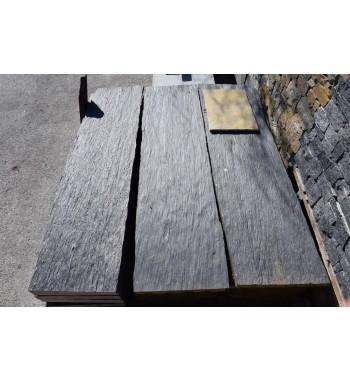 Sichtschutzplatte Schiefer schwarz 50x200x5-6 cm