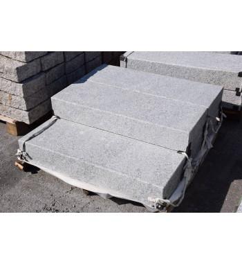 Blockstufen Granit grau geflammt 15x35 cm