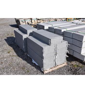 Blockstufen Granit  anthrazit geflammt 15x35x100 cm