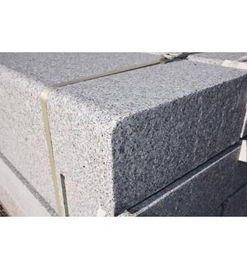 Blockstufen Granit grau geflammt VK.gerundet 15x35x120 cm