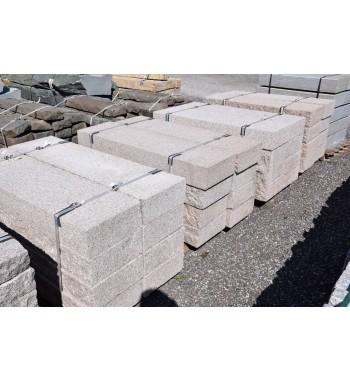 Blockstufen Granit  grau-rosa gestockt 15x35x125 cm