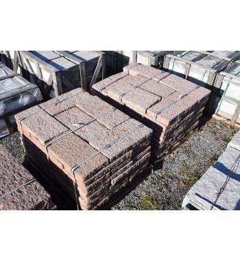 Pflasterplatten Granit rot gespitzt 30x60x6-8 cm