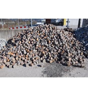 Pflastersteine Porphyr 8-10 cm rotbraun-gemischt