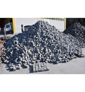 Pflastersteine Granit 8-10 cm hellgrau