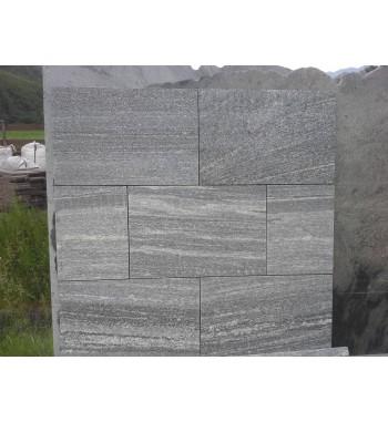 Bodenplatten Granit. Taifun Grey geflammt 40x60x3 cm