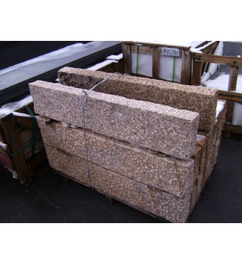 Palisaden Granit gelb gespitzt 8x20x100 cm