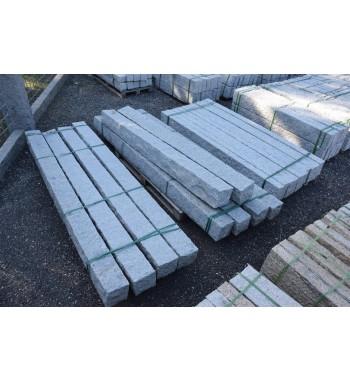 Palisaden Granit grau gespitzt 20x20 cm