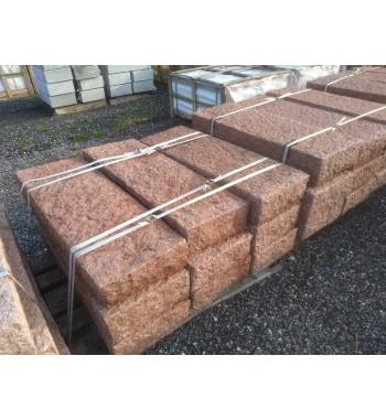 Blockstufen Granit  rot gespitzt ca.15x35x100 cm