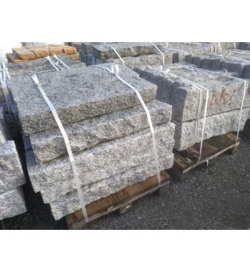 Leistensteine Granit gespalten grau ca. 12x25x100 cm