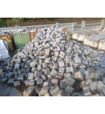 Pflastersteine Granit 18x18x9 cm hellgrau