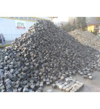 Pflastersteine Granit gebraucht 9-11 cm grau gemischt