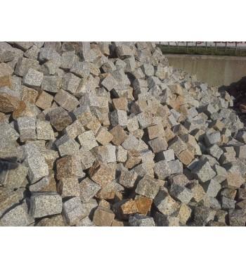 PFlastersteine Granit Antik  8-10 cm gelb-braun gemischt