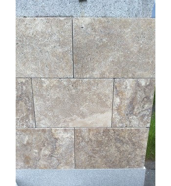 Bodenplatten Travertin Nuss 39,5x59,5x3 cm