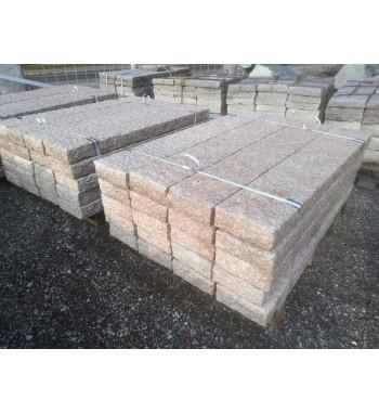 Palisaden Granit grau-rosa gespitzt 10x25x150 cm