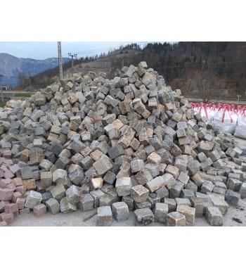 Pflastersteine Granit gebraucht 15-17 cm grau-gemischt