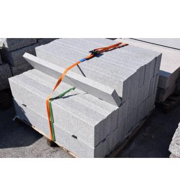 Leistensteine Granit geflammt grau 5x25x100 cm